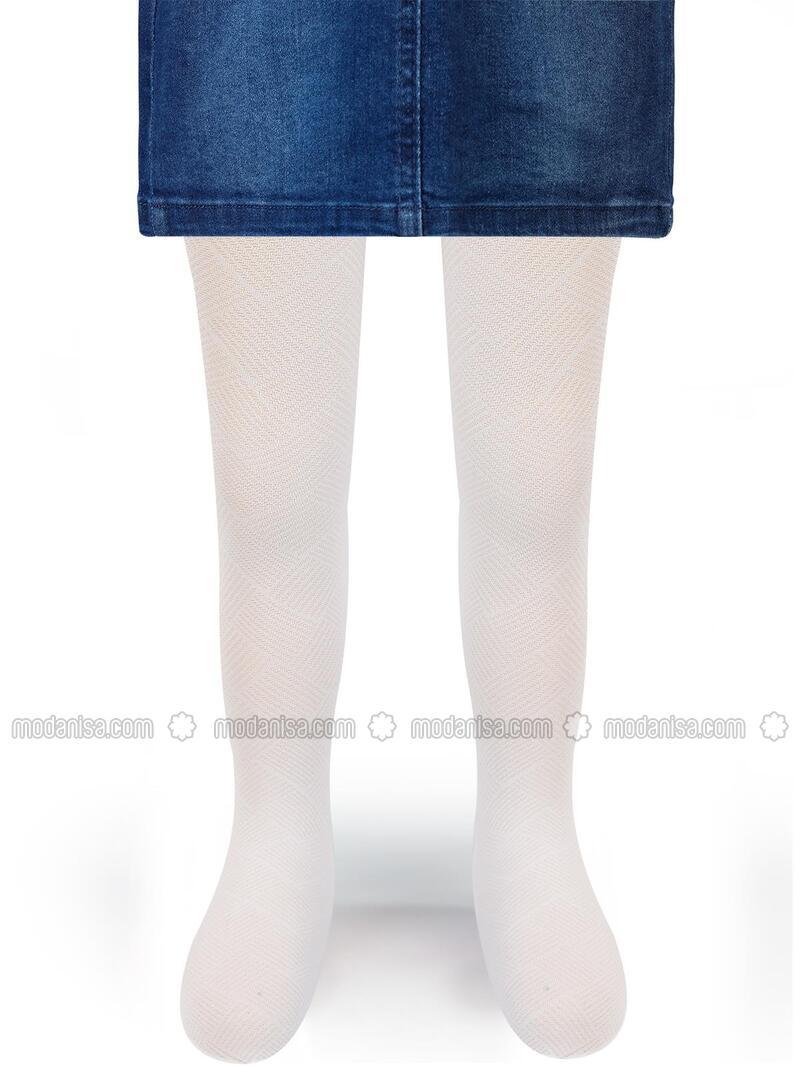 White - Girls` Socks