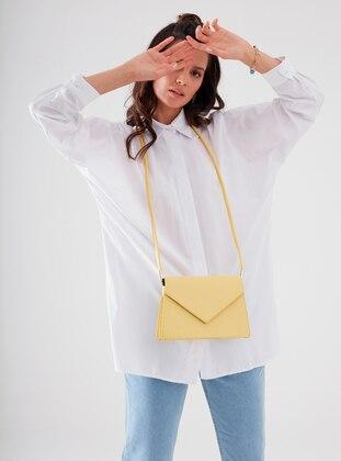 White - Ecru - Point Collar - Cotton - - Blouses