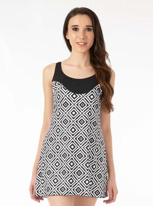 Multi - Black - Skirt Swimsuit - ESTİVA