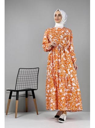 Orange - Modest Dress
