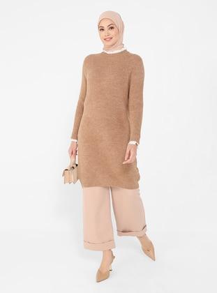 Mink - Crew neck - Unlined - Knit Tunics