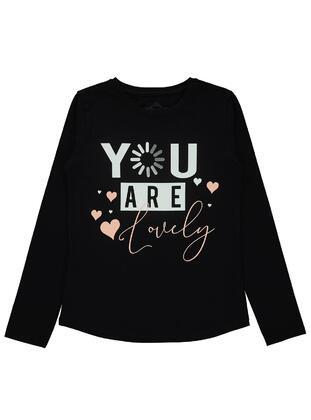 Black - Girls` Sweatshirt - Civil