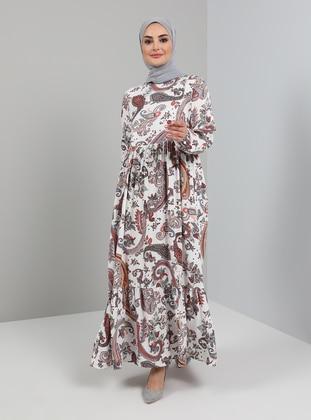 White - Shawl - Crew neck - Unlined - Viscose - Modest Dress