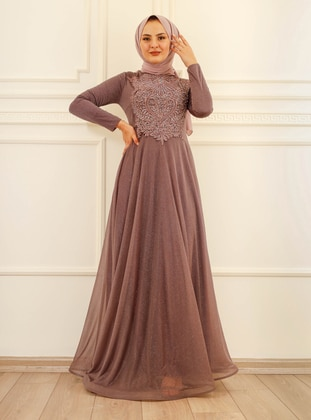 Fully Lined - - Crew neck - Evening Dresses
