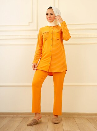 Mustard - Crepe - Suit