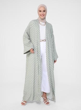 Green - Multi - Unlined - Viscose - Abaya