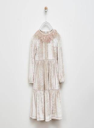 Beige - Girls` Dress
