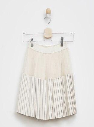 Beige - Girls` Skirt - Panço