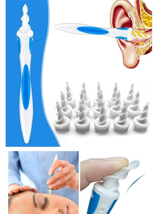 Ear Cleaning Spiral 16 Pcs Wax Wac Smart Swab Professionals - Beyaz