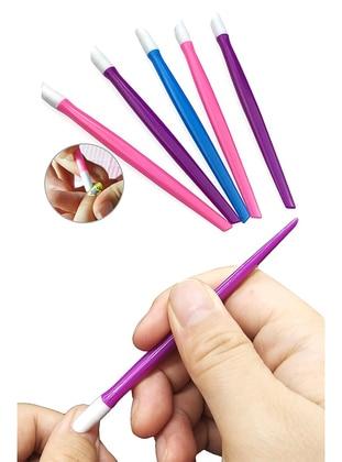 Soft Tip Sensitive 10 pcs Nail Cuticle Pusher Remover Pedicure Manicure Nail Polish Art Stick - Multi-Coloured