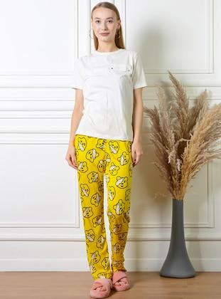 Yellow - Multi - Pyjama Bottoms