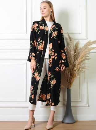 Unlined - Multi - Black - Kimono - Pinkmark