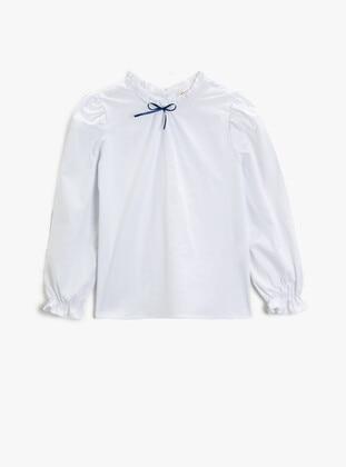 White - Girls` Shirt - Koton