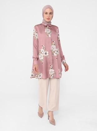 Floral - Point Collar - Tunic