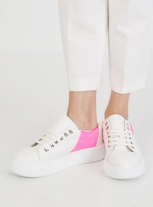 White - Fuchsia - Casual - Sports Shoes