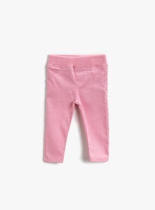 Pink - Girls` Pants - Koton