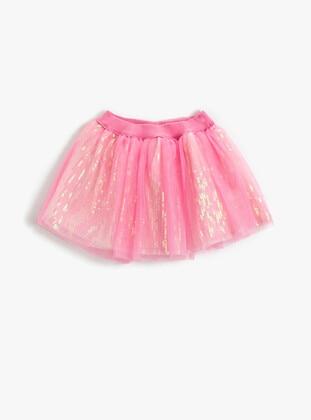 Pink - Girls` Skirt - Koton