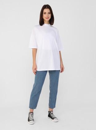 White - Ecru - Cotton - T-Shirt