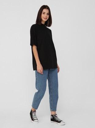 Black - Cotton - T-Shirt