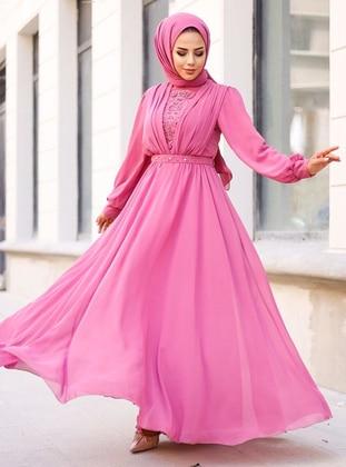 Pink - Modest Evening Dress
