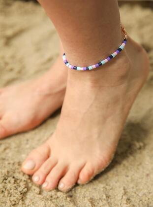 Purple - Gold - Anklet - Modex