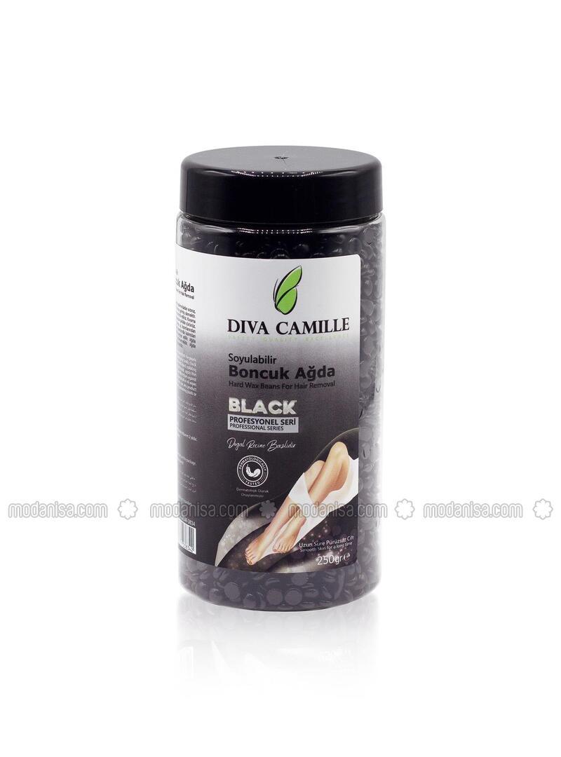 DIVA CAMILLE Glaze Bead Wax 250gr Black Jar