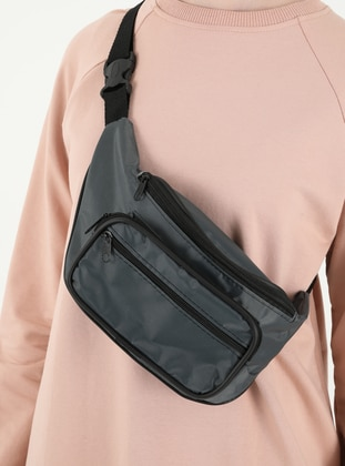 Gray - Satchel - Bum Bag
