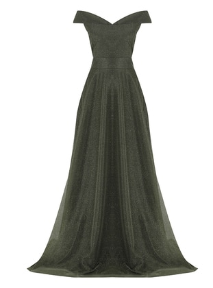 - Fully Lined - Boat neck - Modest Evening Dress