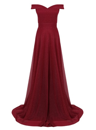 Cherry - Fully Lined - Boat neck - Modest Evening Dress