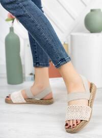 White - Smoke - Sandal - Slippers