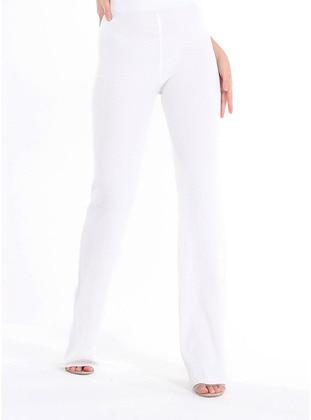 White - Knit Pants