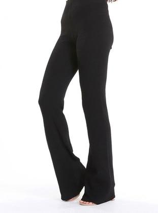 Black - Knit Pants