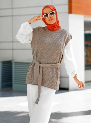Unlined - Mink - Knit Sweater