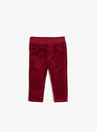 Maroon - Baby Pants