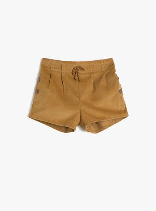 Brown - Baby Shorts - Koton