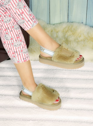 Casual - Camel - Home Shoes