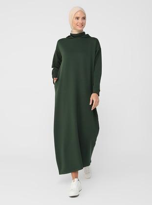 Emerald - Unlined - Cotton - Modest Dress