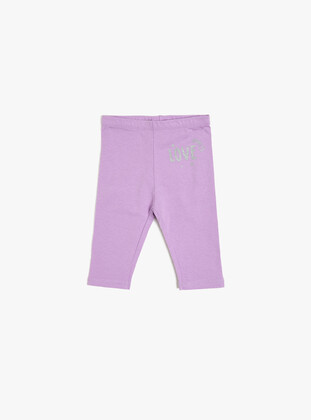 Lilac - baby tights