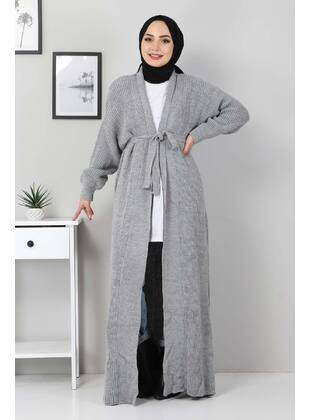 Unlined - Gray - Knit Cardigans