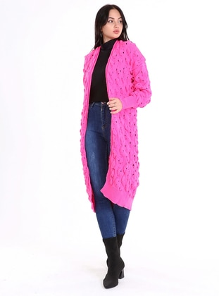 Pink - Unlined - Knit Cardigans