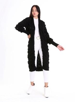 Black - Unlined - Knit Cardigans