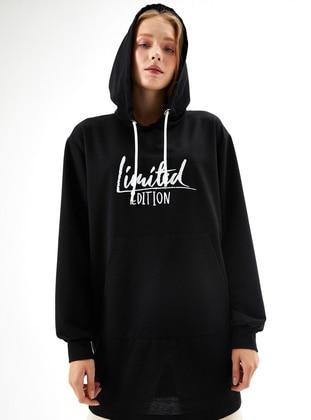 Printed - Black - Viscose - Sweat-shirt
