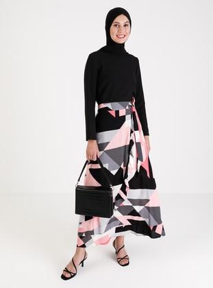 Pink - Multi - Unlined - Skirt