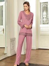 Dusty Rose - Crew neck - Pyjama Set