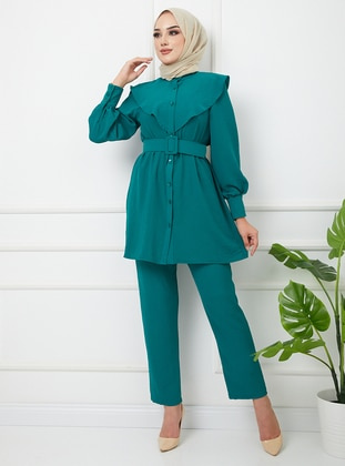 Emerald - Unlined - Crew neck - Suit