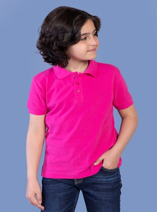 Fuchsia - Boys` T-Shirt