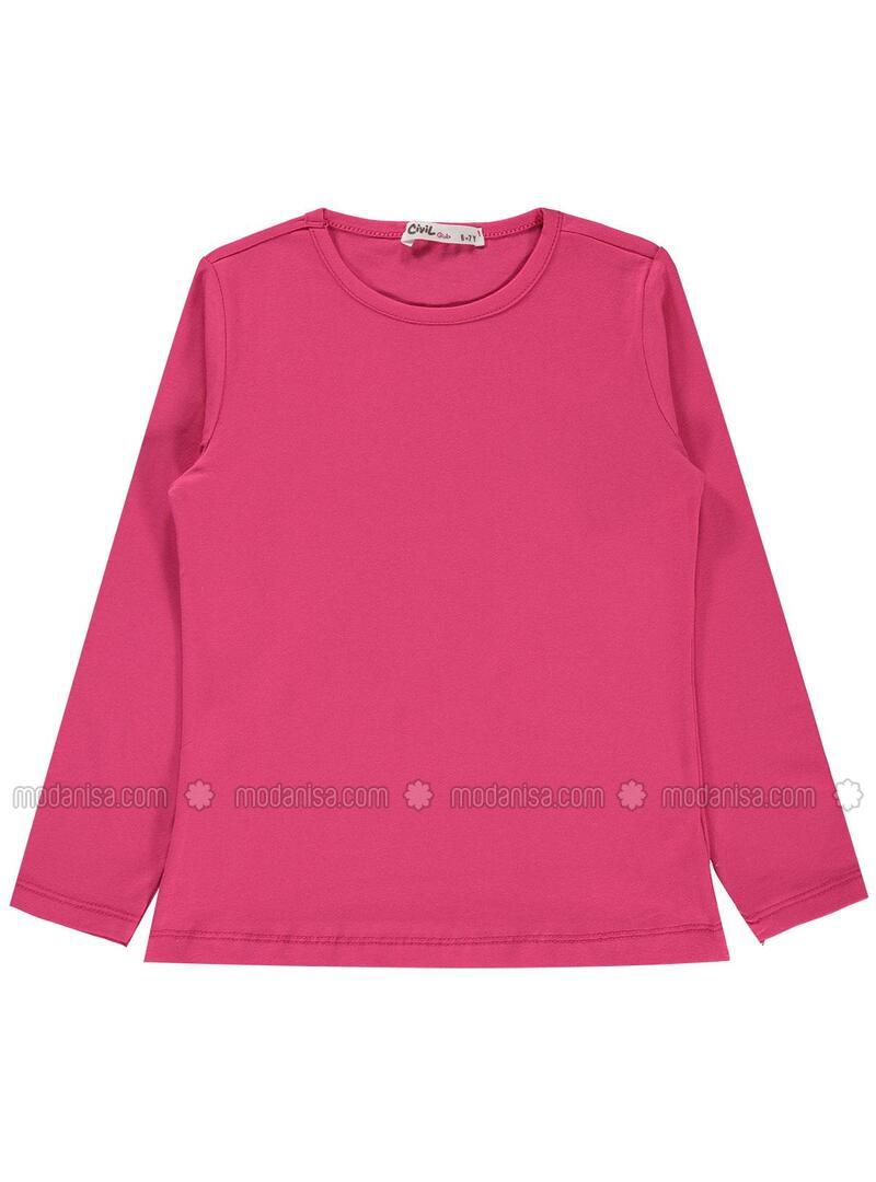 Fuchsia - Girls` Sweatshirt