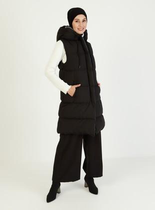 Gray - Black - Fully Lined - Coat