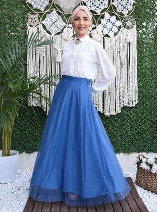 Fully Lined - Indigo - Evening Skirt