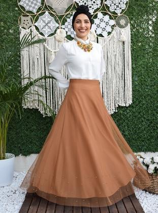Fully Lined - Cinnamon - Evening Skirt